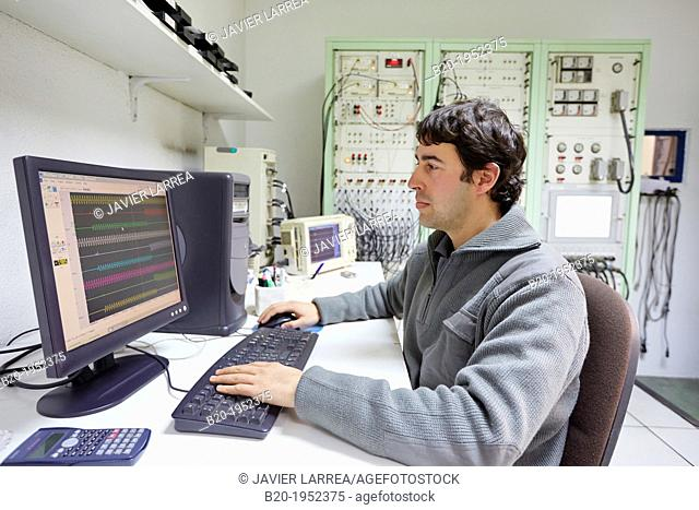 Oscillogram. Control room. Power Electric Laboratory. Certification of electrical equipment. Technological Services to Industry