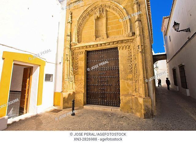 Chapel of Mercy, cover is gentle Gothic, Capilla de la Misericordia, Calle Núñez del Prado, 5, Arcos de La Frontera, White Towns, Pueblos Blancos