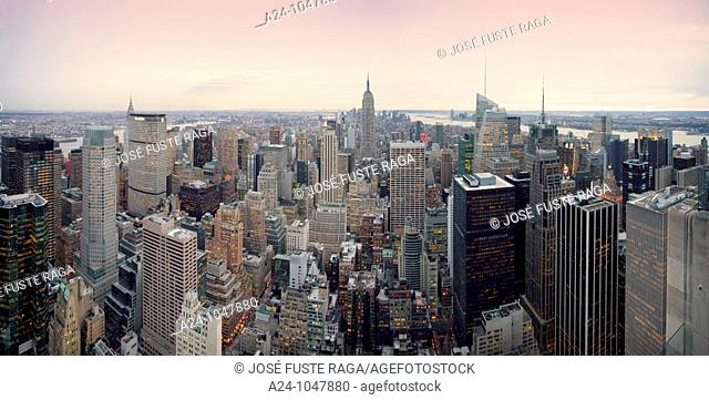 Midtown Mahattan panorama, New York City, USA