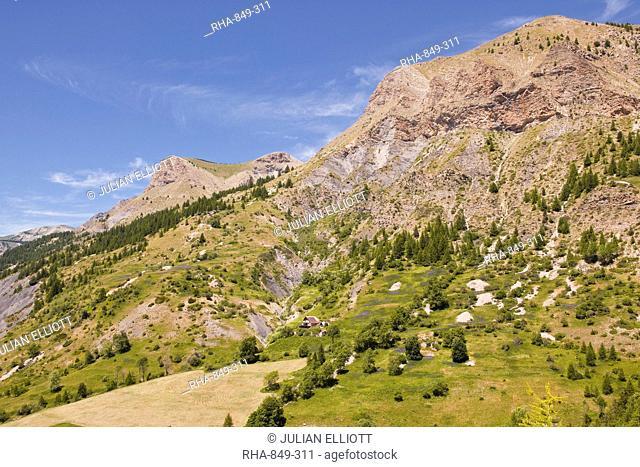 The southern Alps in the Parc National du Mercantour near Allos, Alpes-de-Haute-Provence, Provence, France, Europe