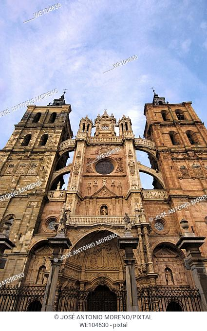 Cathedral of Santa Maria, Astorga, Way of St James, Leon province, Castilla-Leon, Spain