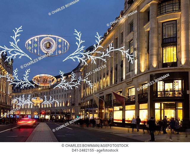 UK, england, london, Christmas lights Regent St