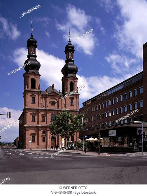 D-Mainz, Rhein, Rheinland-Pfalz, Kirche Sankt Peter, Rokoko D-Mainz, Rhine, Rhineland-Palatinate, Saint Peter Church, rococo - Mainz, Rheinland-Pfalz, Germany