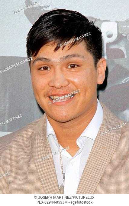 Johnny Ortiz at the Premiere of Warner Bros. Pictures' Lights Out held at the TCL Chinese Theater in Hollywood, CA, July 19, 2016