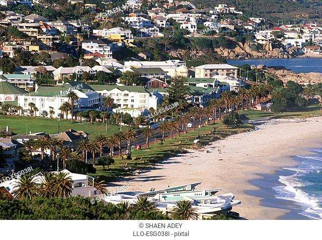 Aerial View of Camps Bay  Cape Town, Western Cape Province, South Africa