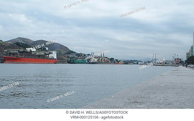 Cargo ship at the dock, Vitoria, Espirito Santo, Brazil