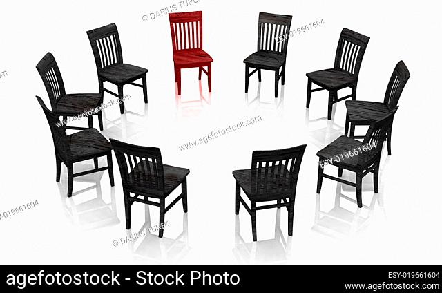Selbsthilfegruppe rot schwarz