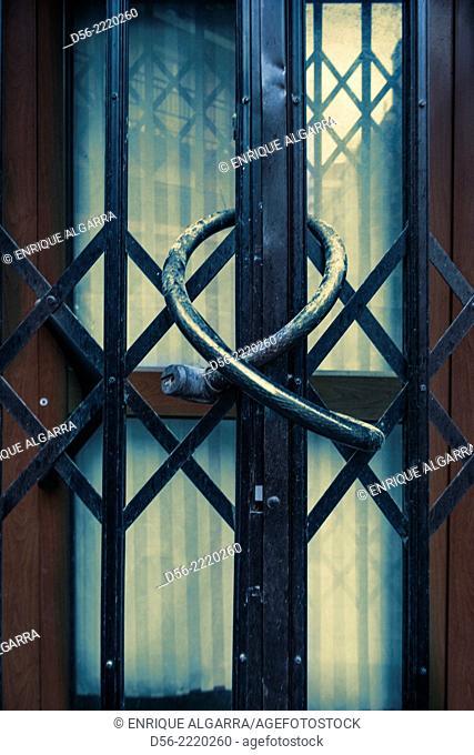 door closed and locked