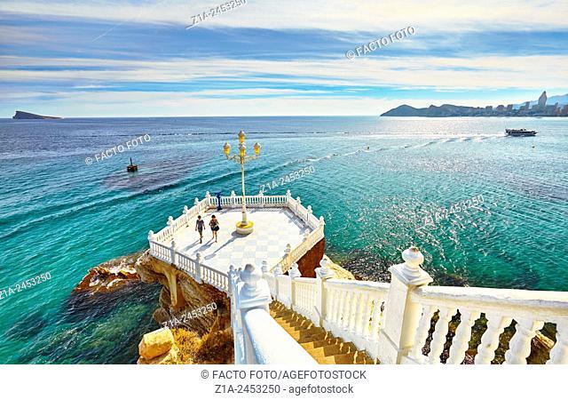 Mediterranean balcony viewpoint. Benidorm. Alicante. Valencia Community. Spain