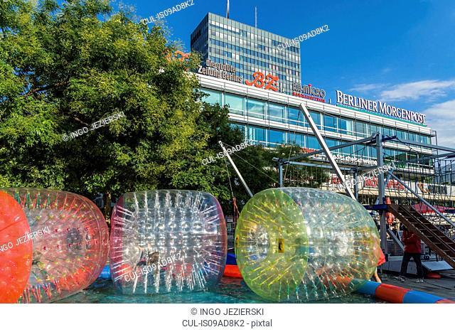 Breitscheidplatz with Europa-Center, Berlin, Germany