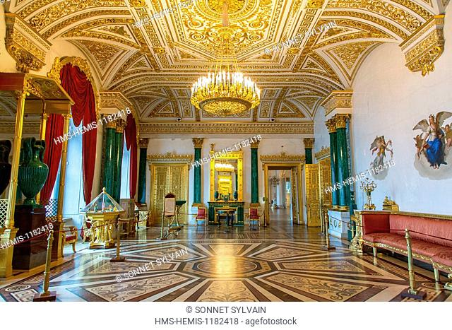 Russia, Saint Petersburg, listed as World Heritage by UNESCO, winter palace