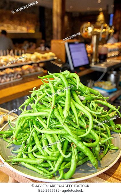 Chillies, Bar Restaurante Portaletas, Parte Vieja, Old Town, Donostia, San Sebastian, Gipuzkoa, Basque Country, Spain