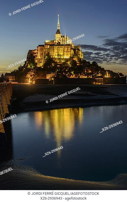 Le Mont-Saint-Michel, La Manche, Normandie, France, Europe