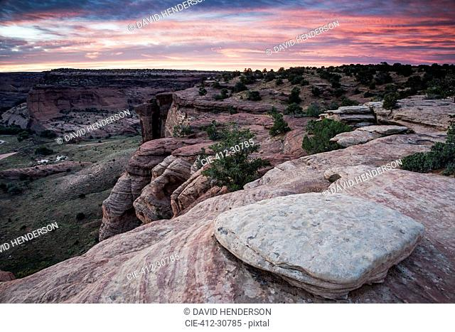 Sunrise over Canyon de Chelly, New Mexico, United States