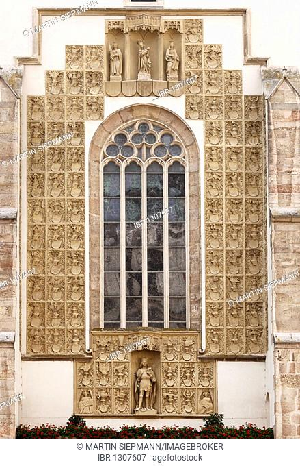 Crest Wall, St. George's Cathedral in the Castle, Wiener Neustadt, Lower Austria, Austria, Europe