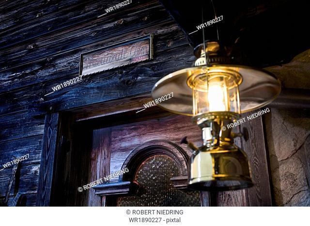 Oil Lamp On House Entrance, Tyrol, Austria, Europe