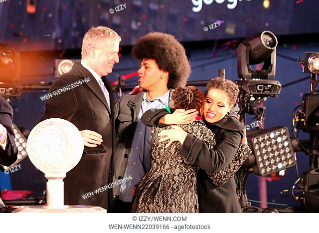New Year's Eve 2015 in Times Square Featuring: Bill De Blasio, Dante De Blasio, Chirlane De Blasio, Chiara De Blasio Where: New York City, New York