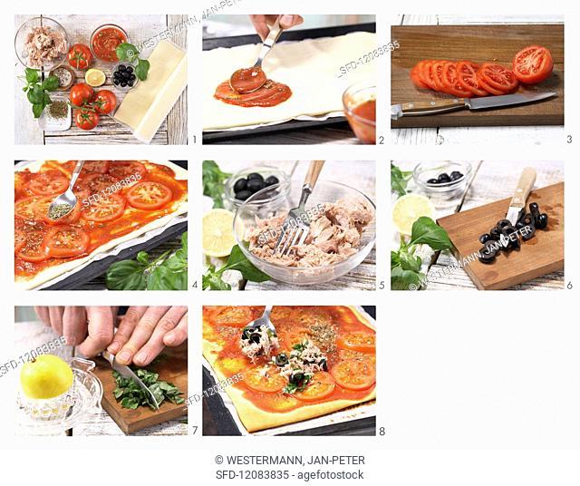 How to prepare tomato & tuna pizza