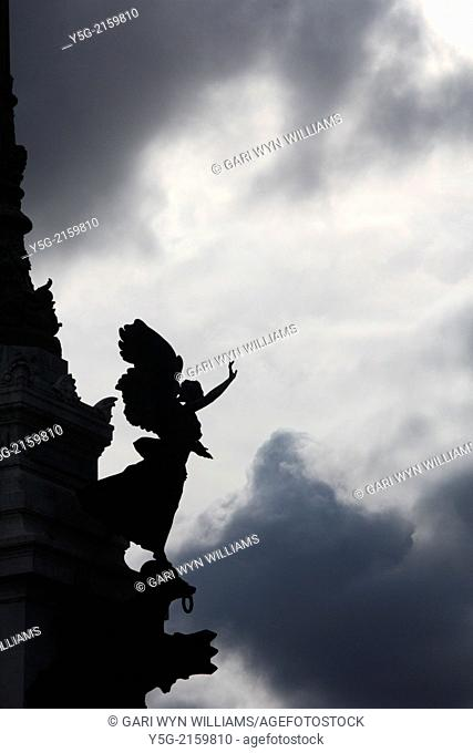 The Vittoriano Altar to the Nation monument in Piazza Venezia square in Rome Italy