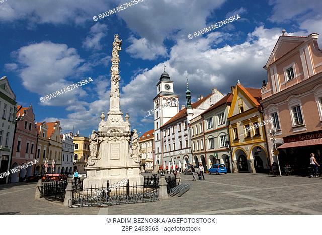 Historic old town, Town Hall, Trebon, Czech,