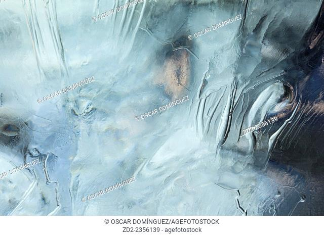 Close up of ice. Jokulsarlon. Vatnajokull National Park. Iceland