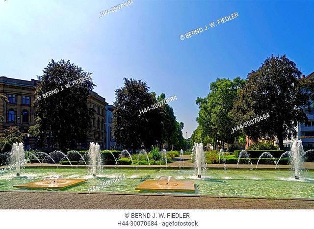 Park, Hans-Klenk-Brunnen, Springbrunnen