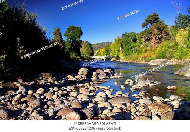 Scenic Arkansas river in Colorado