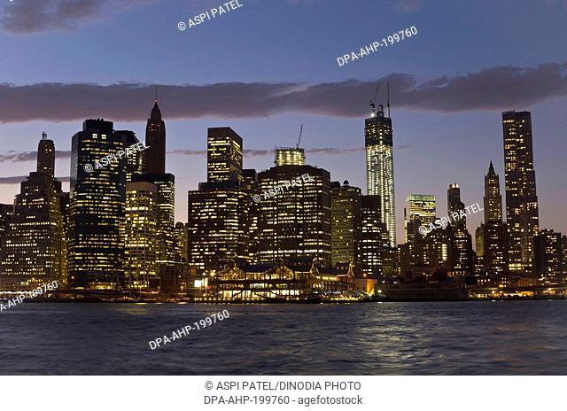 manhattan skyline from dumbo, new york, usa