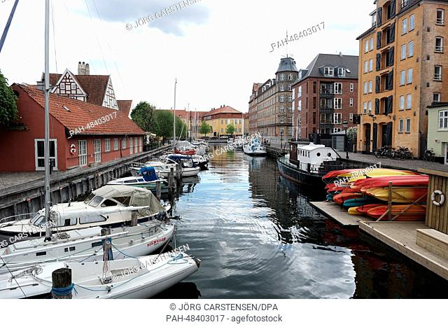 A canal in Christianshavn in Copenhagen, Denmark, 5 May 2014. The grand final of the 59th Eurovision Song Contest (ESC) takes place on 10 May 2014