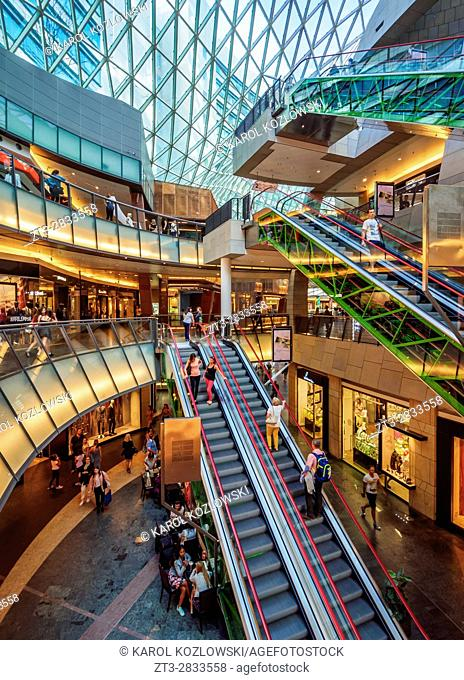 Poland, Masovian Voivodeship, Warsaw, City Center, Golden Terraces Shopping Mall interior
