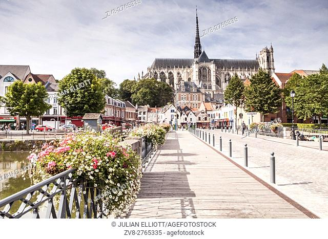 Notre Dame d'Amiens cathedral in the city of Amiens. It was designated a UNESCO world heritage site in 1981