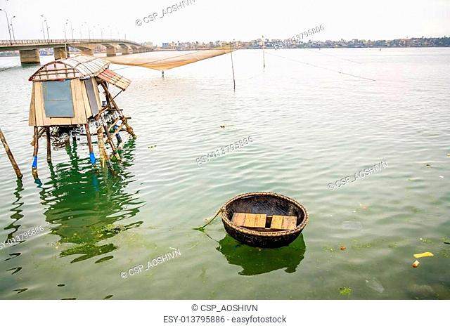 Boat on river at Quang Binh provinc