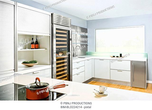 Countertops in modern kitchen