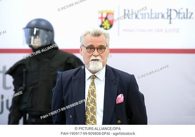 16 September 2019, Rhineland-Palatinate, Mainz: Herbert Mertin (FDP), Minister of Justice in Rhineland-Palatinate, speaks to media representatives during a...