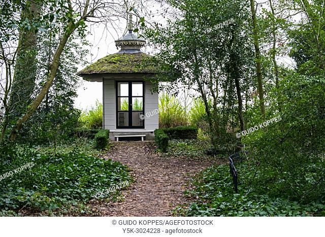 Rotterdam Overschie, Netherlands. Tea House at The Temple Country Seat and Estate