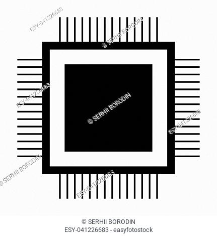 Processor it is the black color icon