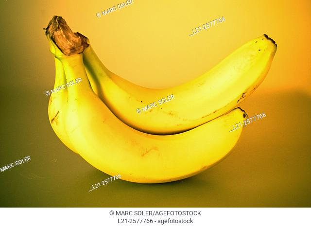 Bunch of bananas, warm light