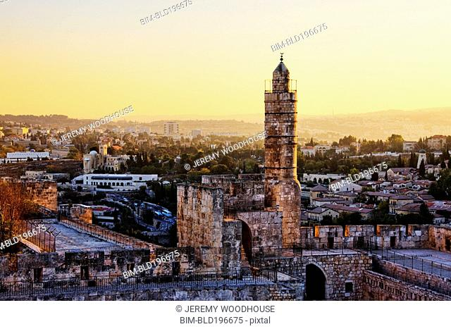 Tower of David amid cityscape