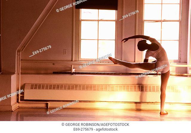 Ballet dancer training t Cornell College
