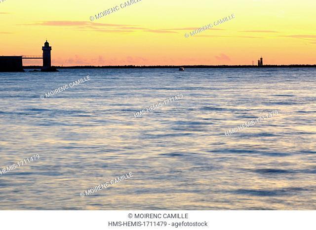 France, Bouches du Rhone, Marseille, peak Pharo lighthouse Desirade