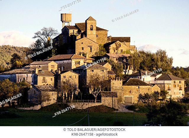 Spain, Pyrenees Mountains, Aragon, Huesca Province, Latorrecilla, La Asuncion church, 16th-17th c