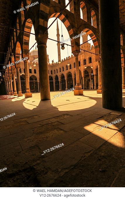 Mosque of Al-Nasir Muhammad ibn Qala'un at the Citadel in Cairo, Egypt