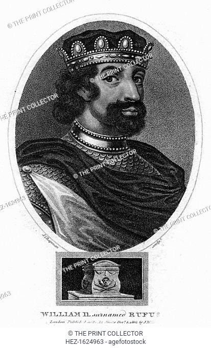 King William II of England, (1803). Portrait of William Rufus (1056-1100), son of William the Conqueror