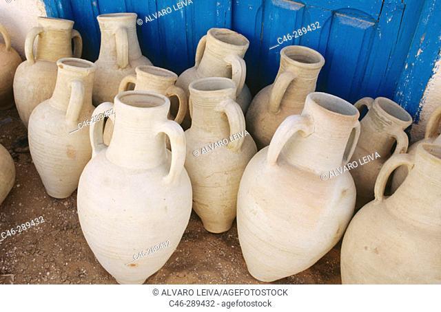 Pottery shop. Guellala. Jerba. Tunisia