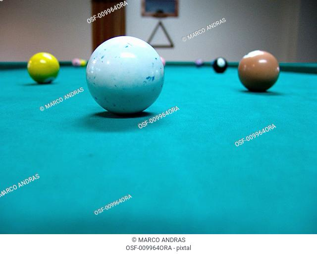 balls on the snooker table