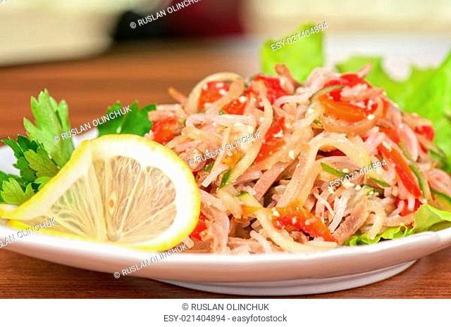 Fresh funchozy salad