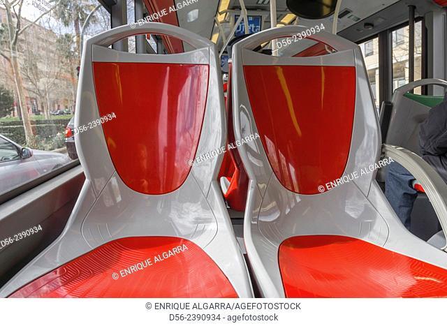 Public bus seats, Valencia, Spain