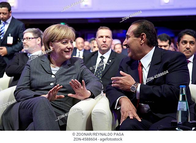 Germany, Berlin. 15th April, 2013. Joint participation of the Prime Minister Sheikh Hamad bin Jassim bin Jabor Al Thani of the State of Qatar