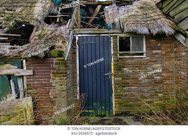 weather beaten farmhouse in Holland