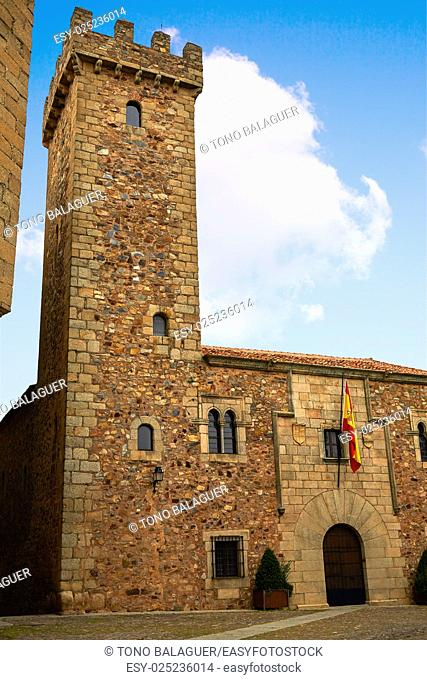 Ciguenas house tower in caceres at Extremadura of spain